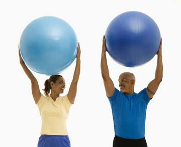 posture ball exercise