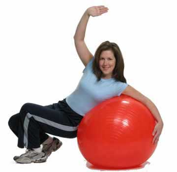 posture exercise on the ball